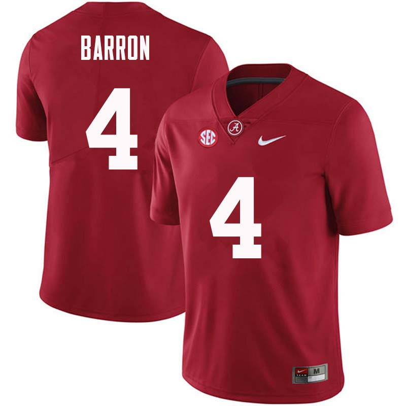 Men #4 Mark Barron Alabama Crimson Tide College Football Jerseys Sale-Crimson